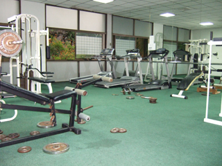 Rompo mansion Weights room